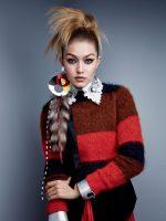 Фото Джиджи Хадид для журнала Vogue, 2015 год