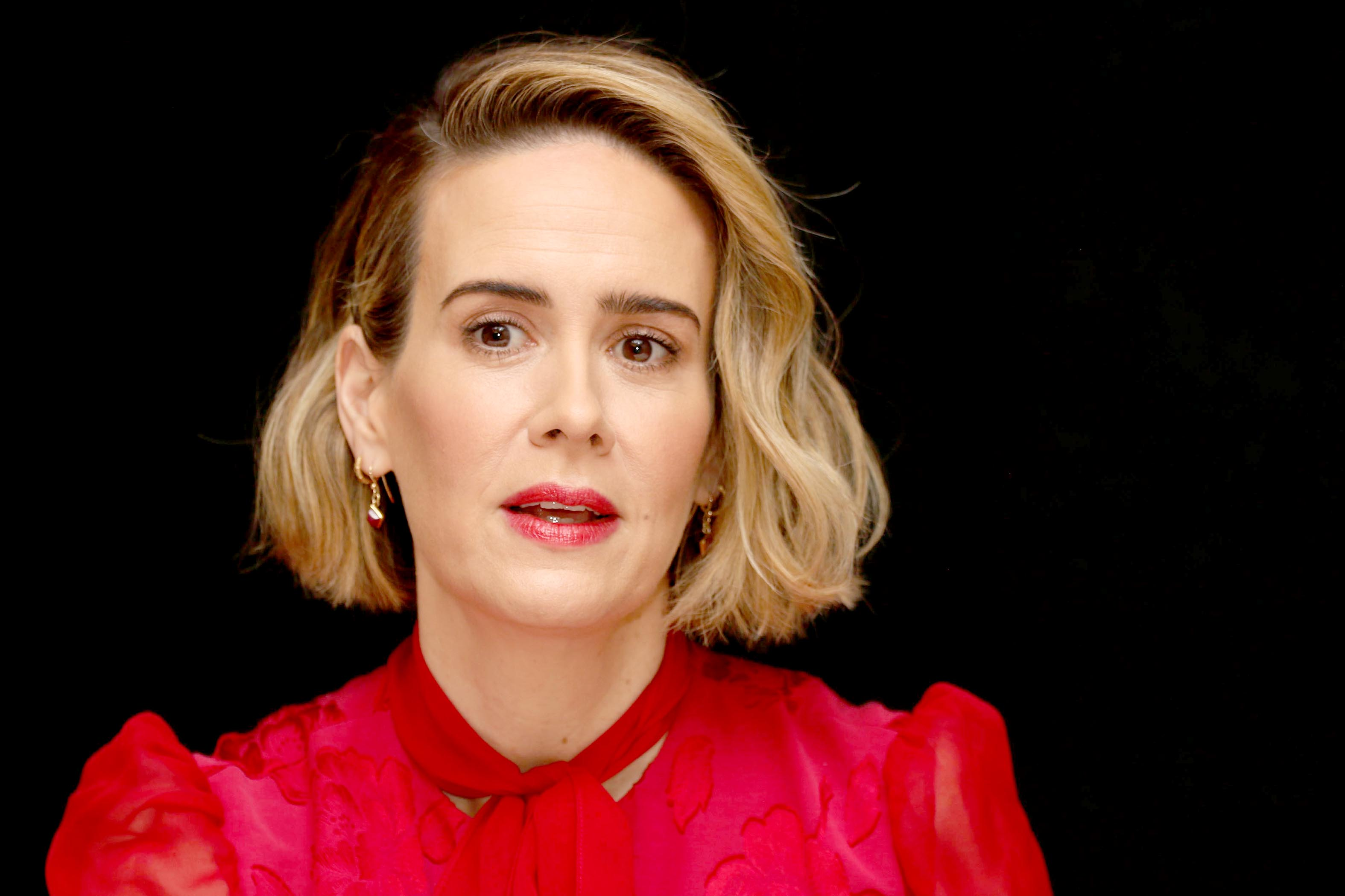 sarah paulson attends the goldfinch press conference