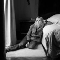 Emmanuelle Seigner poses at a portrait session in Paris 2008