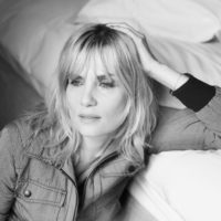 Emmanuelle Seigner poses at a portrait session in Paris 2008